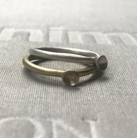anillos microcóncavos en mezcla de metales