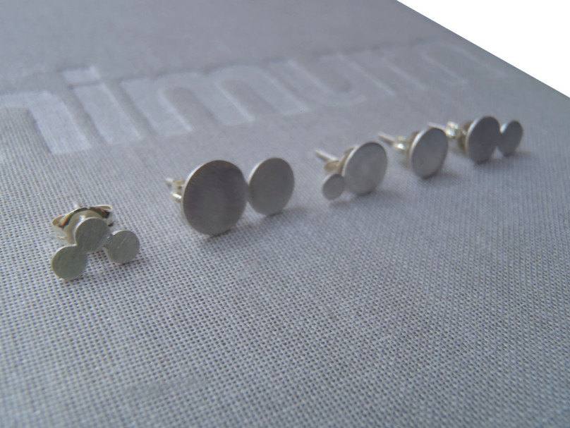 brushed matte constellations earrings set