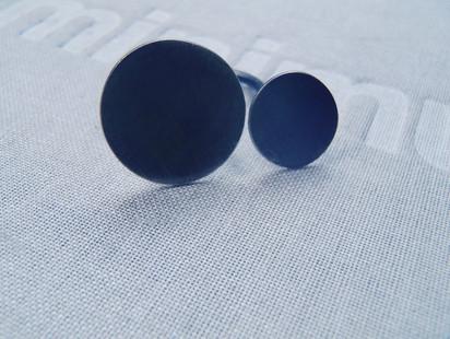 anillo discos pavonado