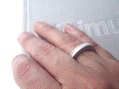 anillo sólido grueso plata mate