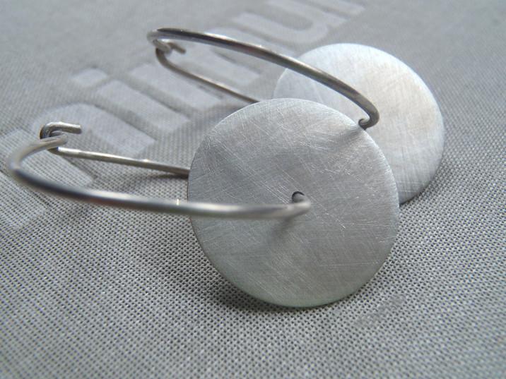 hoop discs earrings