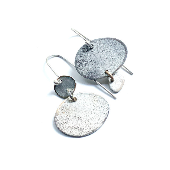 rustic asymmetrical dangle earrings