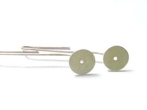 small long disc earrings