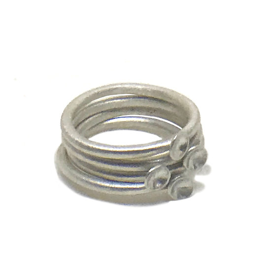 Stackable micro concave rings