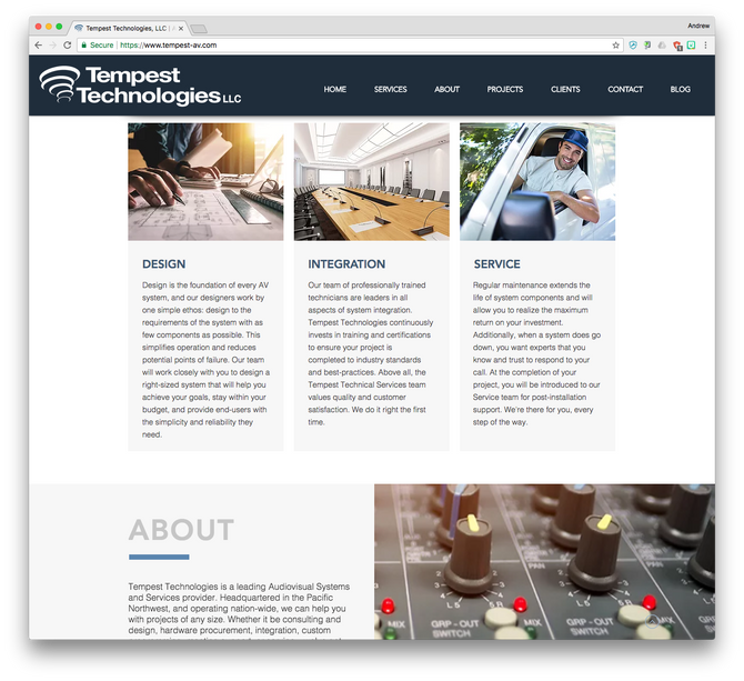 Tempest Technologies proudly launches new website