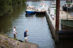 Hafen Angler