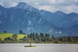 Schleppangeln Alpenpanorama
