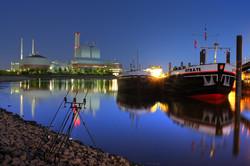 Rod Pod Nachtangeln im Hafen