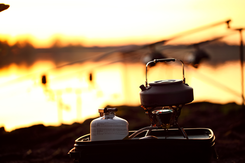 Gaskocher beim Angeln