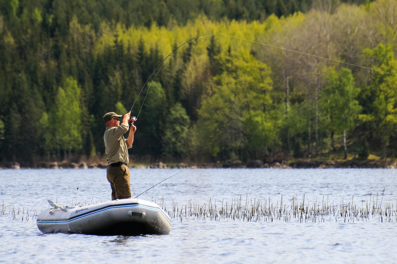 Schlauchboot Fischen