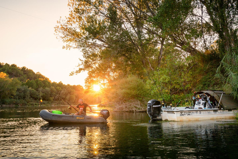 Rio Ebro Sonnenuntergang