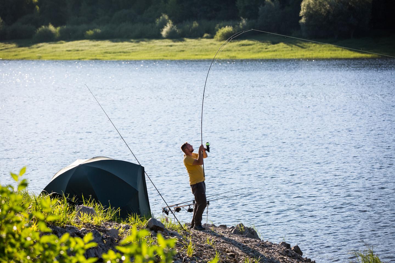 Angler im Drill