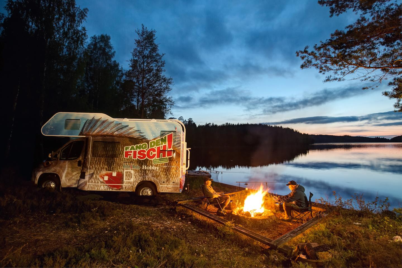 Wohnmobil Angeln in Schweden