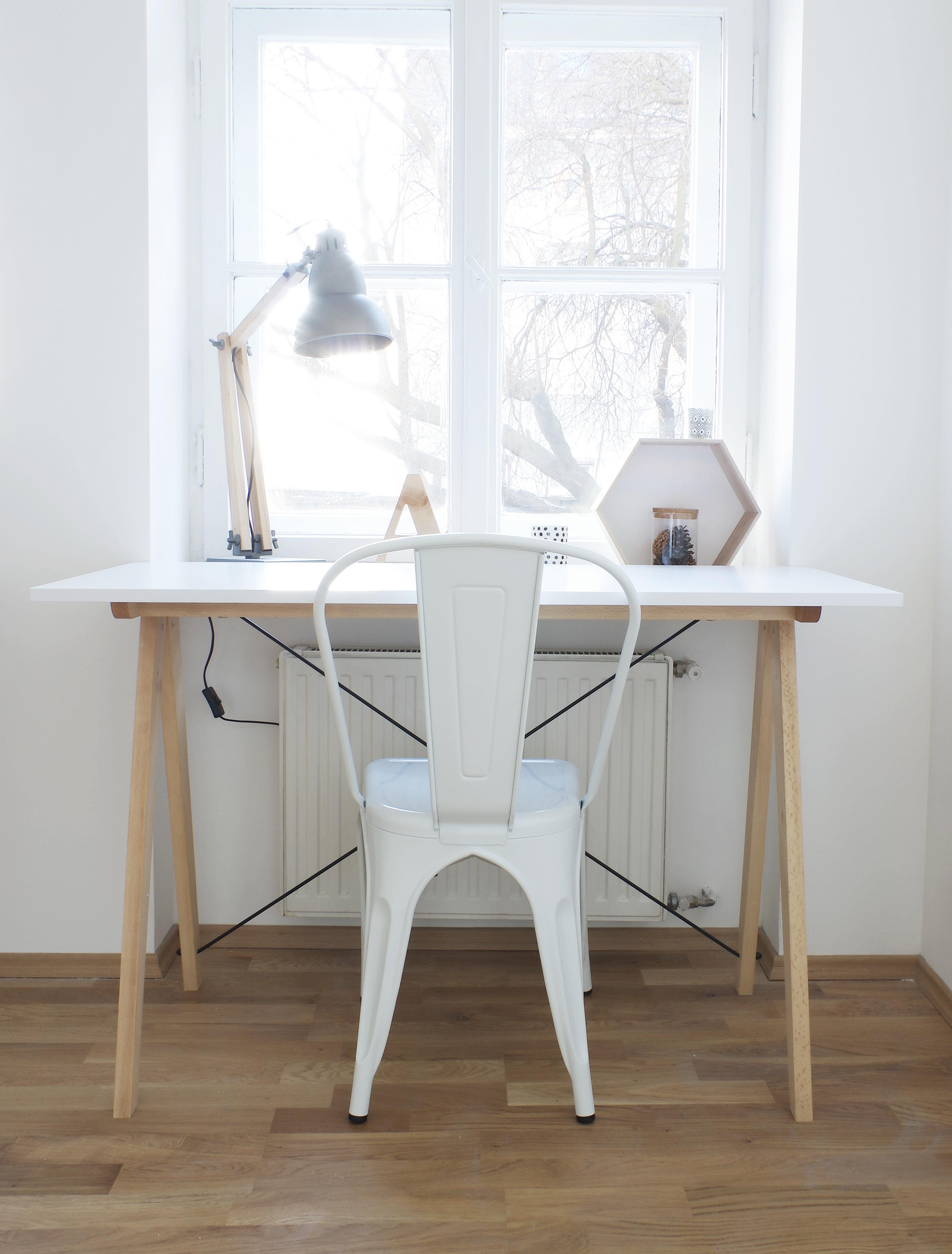 Skrivebord Trondheim (Hvit)   skandinaviskhjem