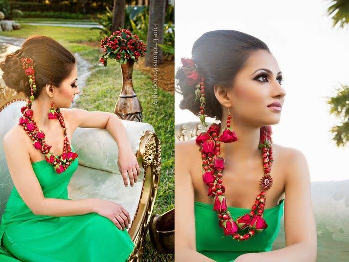 The Statement Fresh Flower Jewelry My Bridal Red L Dubai S Desi Wedding Blog