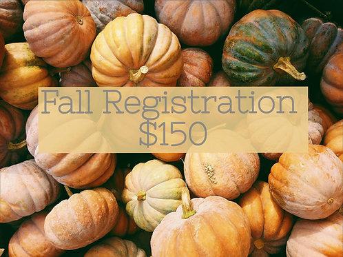 Fall Registration - $150 Contribution