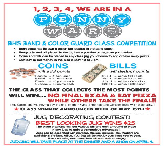 Drive 4 Ur School >> Penny Wars Winners Earn Special Prize! | Bullard High School Marching Band