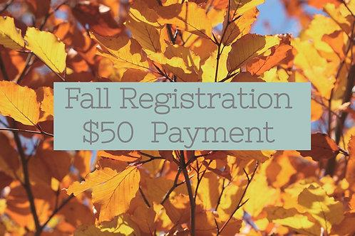 Fall Registration - $50 Contribution