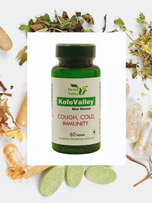 Herbal Tablets for Cough, Cold and Boost Immunity