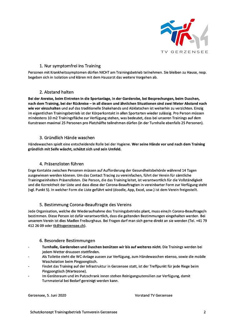 Schutzkonzept TV Gerzensee2, 05.06.2020.