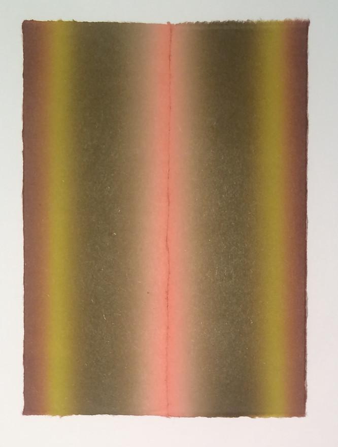 """""""El Otoño""""  2016 Monotype Collage 11""""x 9"""""""