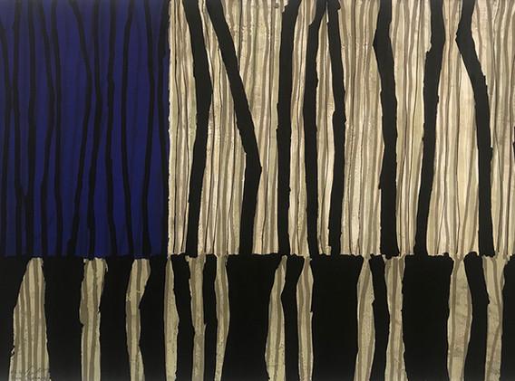 Code Barre (bleu), 80x120cm, Lithography