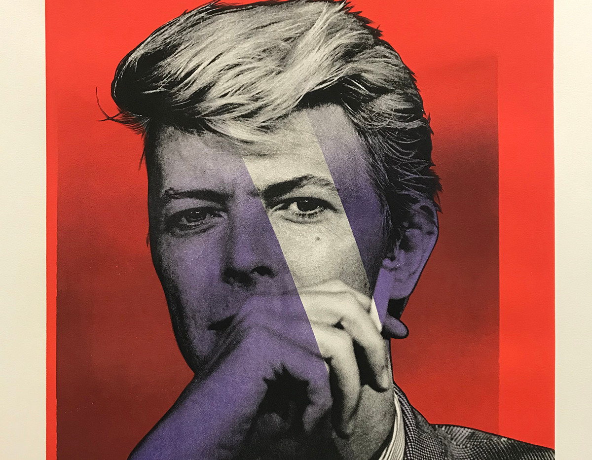 Bowie  (red, purple), Lithography, 80x60cm, variable edition