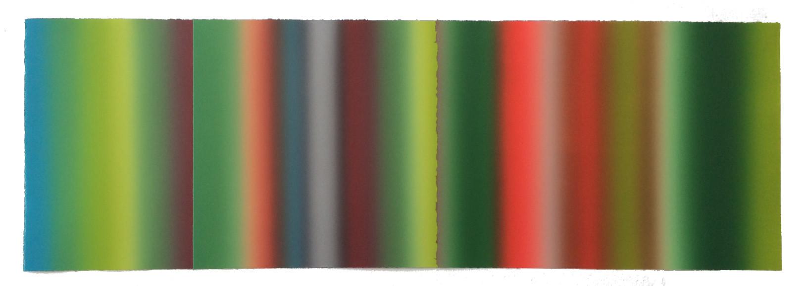 """La Vida""  2014 Monotype Collage 14""x44"""