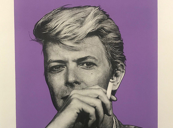 Bowie (purple), Lithography, 80x60cm, variable edition