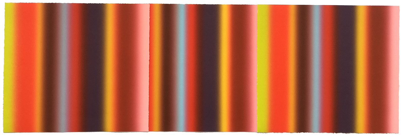 """Jogja""  2016 Monotype Collage 11""x34"""