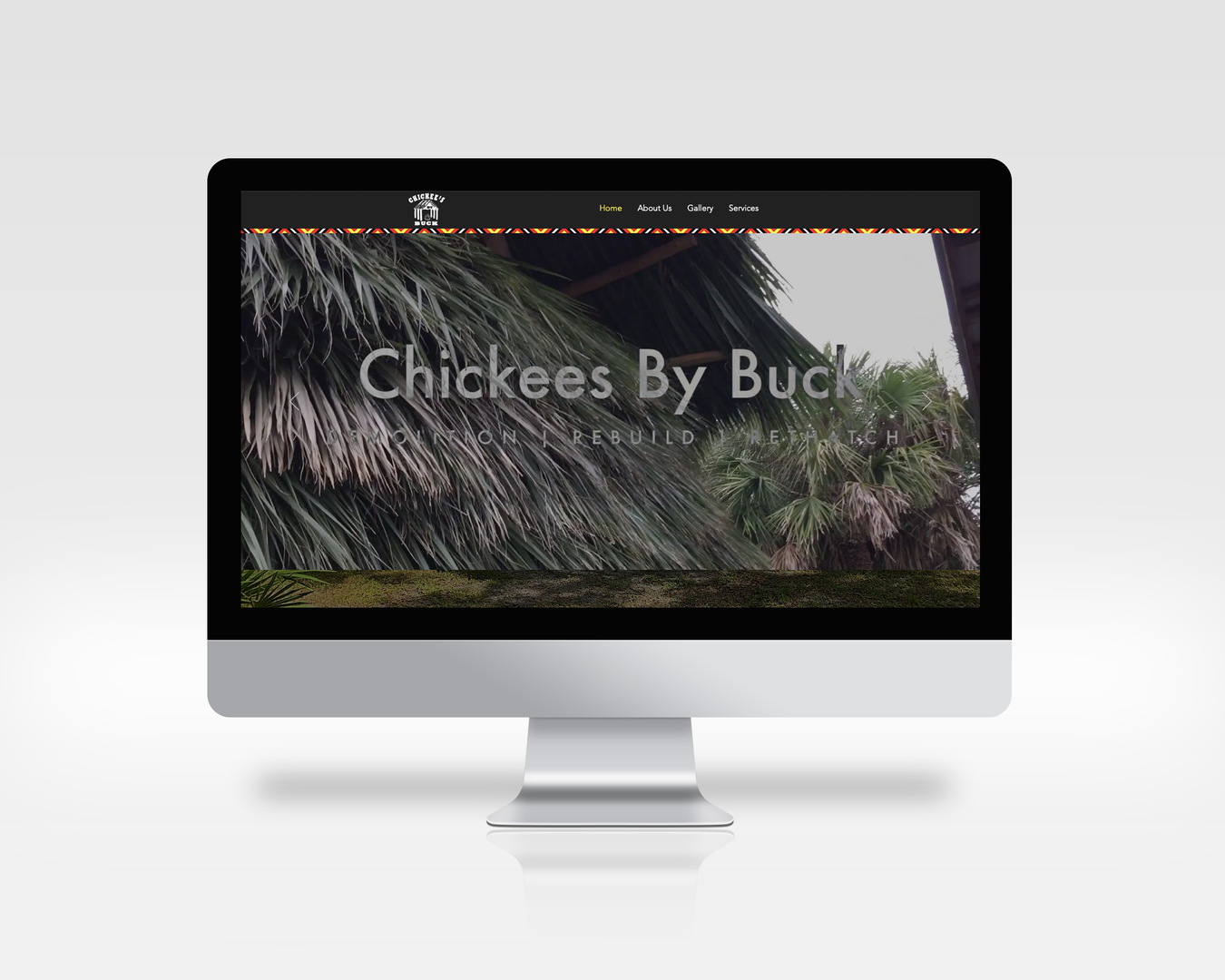 Chickees By Buck Computer Mockup