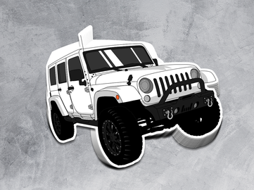 Jeep Die Cut Stickers