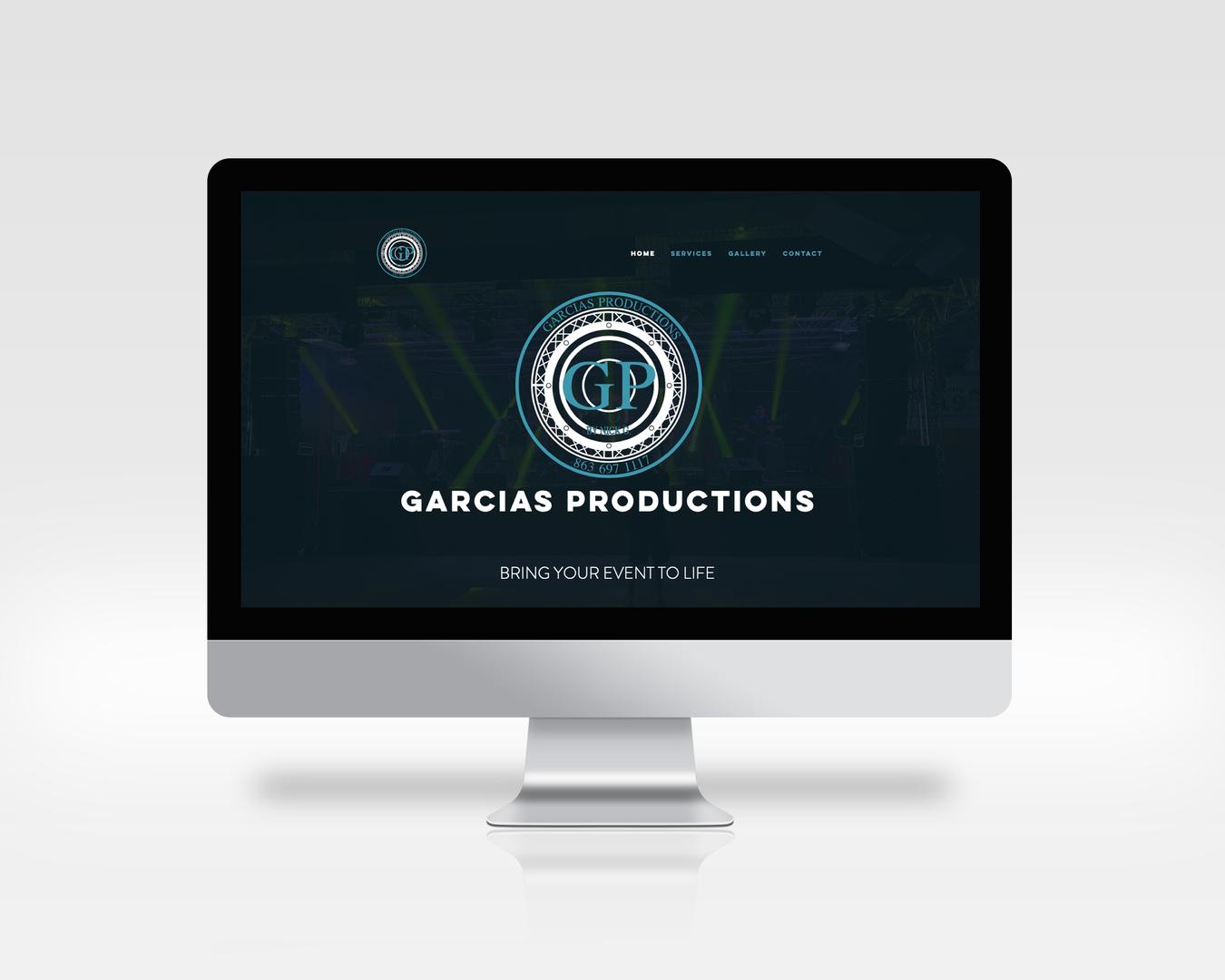 Garcias Productions Computer Mockup