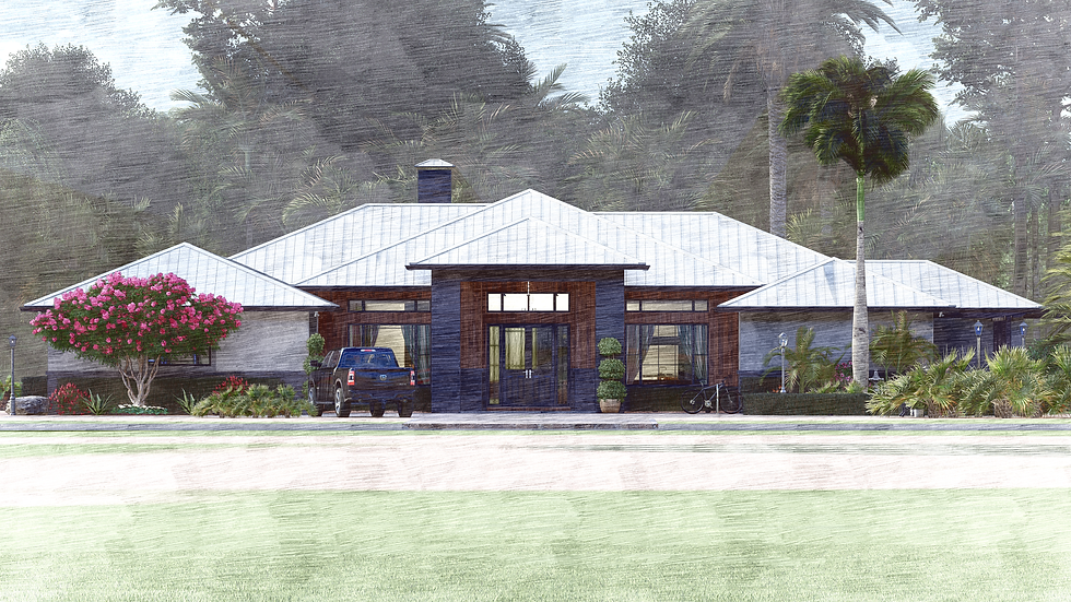Ranch HouseFront Elevation