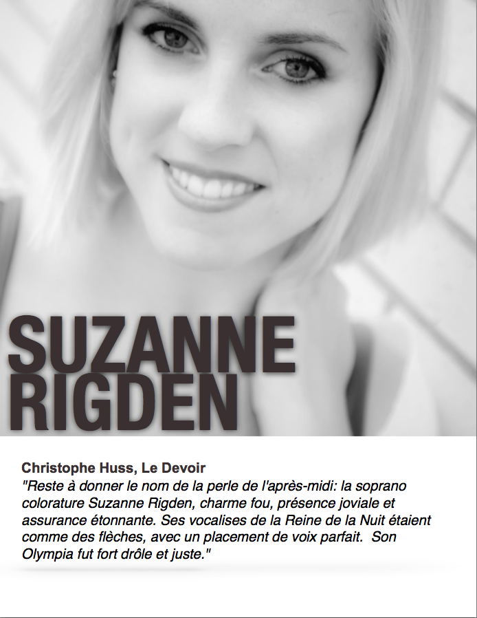Suzanne Rigden, soprano colorature