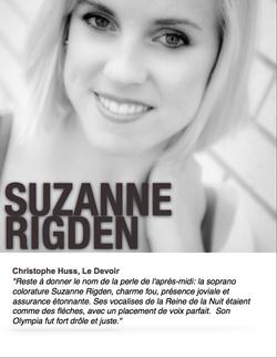Suzanne Rigden, soprano colorature