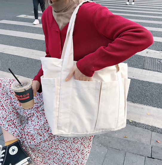 oversized cotton tote