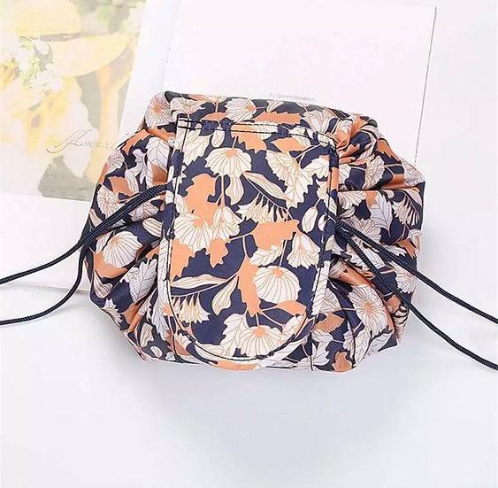 autumnal draw string makeup bag