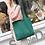 Thumbnail: bottle green woven woollen bag