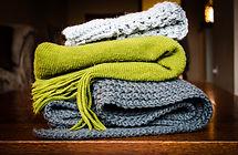Echarpes tricotées
