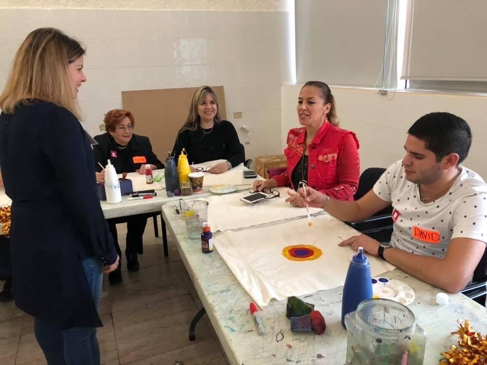 Bibi at her Art Sensorial Healing Workshops in MARCO Museum in Monterrey, Mexico.
