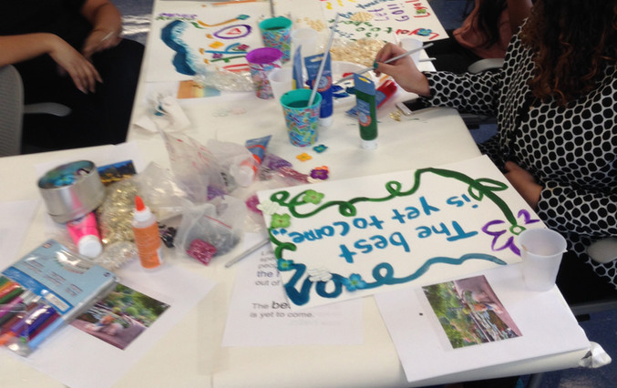 Artist Art Healing Workshops at NYC Mayor's Office to Combat Domestic Violence in New York City.
