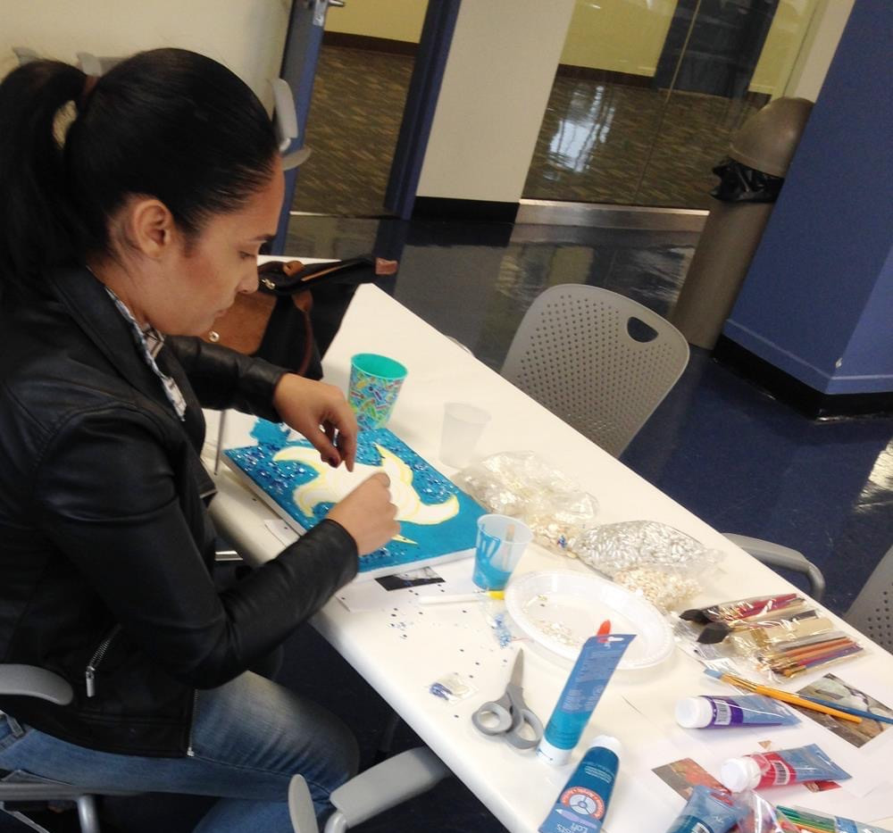 Artist Art Healing Workshops at The NYC Mayor's Office To Combat Domestic Violence in New York City.