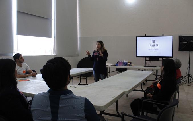 Bibi at XTRTB Art Sensorial Healing Workshops in MARCO Museum in Monterrey Mexico