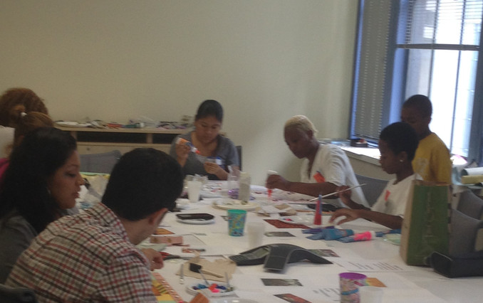 GTA, IDMB, Artist Art Healing Workshops for Survivors of DV at the NYC Mayor's Office to Combat Domestic Violence.