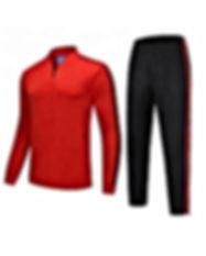 Polyester-Soccer-Sport-Tracksuit-Zipper-
