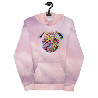 Pink Nuages Hoodie Front