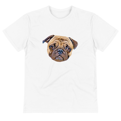 Wtp T-shirt Front with Chiku the pug
