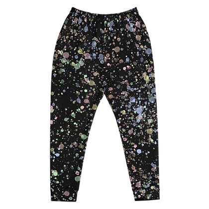 Droplets Black Joggers Front