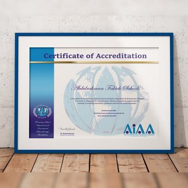 حصول مدارس عبد الرحمن فقيه للبنات على الإعتماد الأمريكى (AIAA) لمدة خمس أعوام